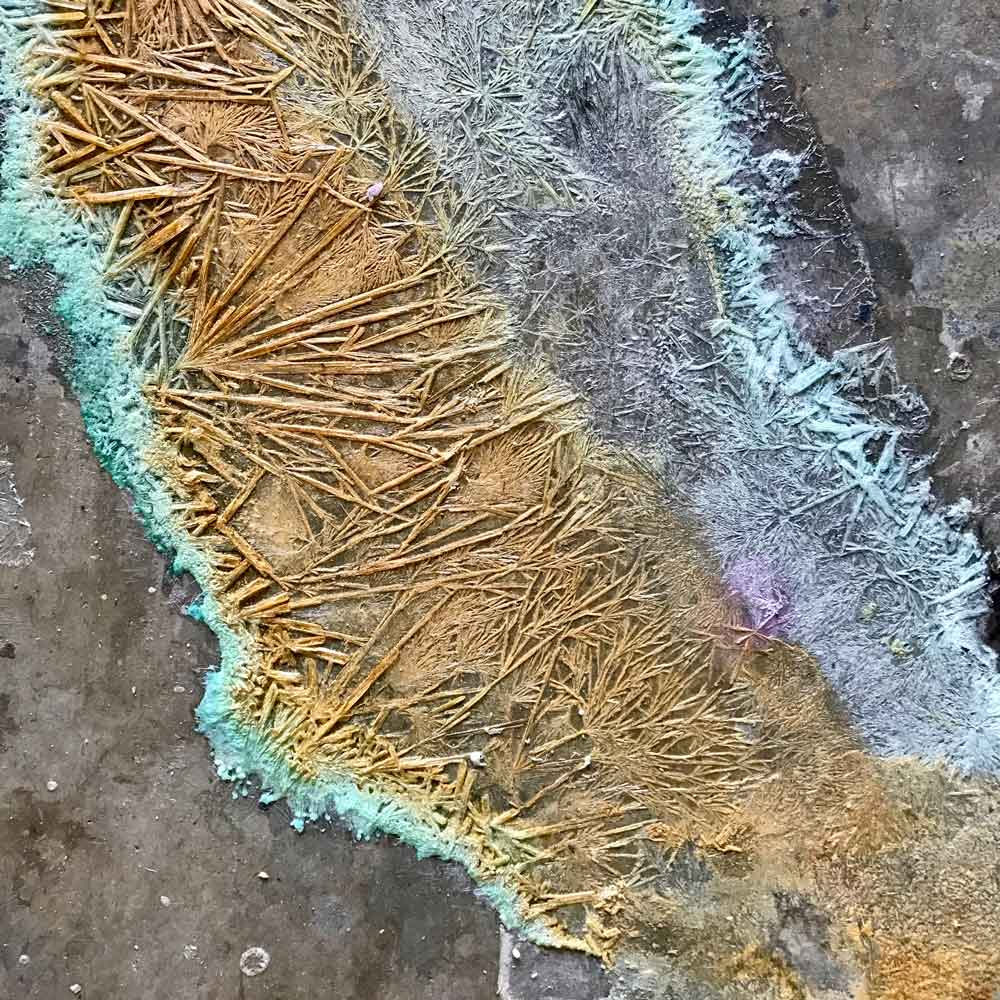 Crystal Structure on Concrete Slab
